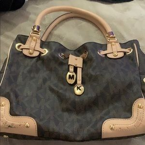 MK Brown with Gold Accents Bag